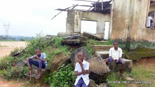 Students at Ntiat and Mbak 1 Comprehensive Sec Sch, Itu