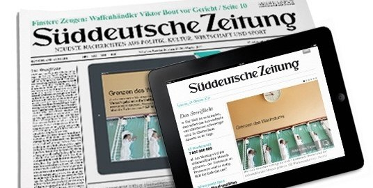 Germany's Sueddeutsche Zeitung newspaper used to illustrate the story