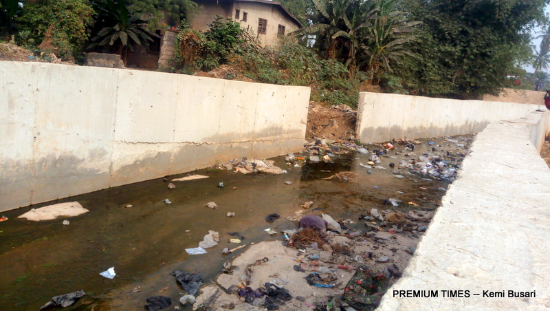 The drainage at Isale Afon is one of the abandoned, poorly executed projects that litter Oyo