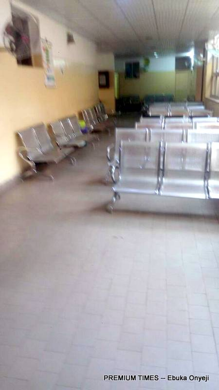 Empty reception at Asokoro District Hospital