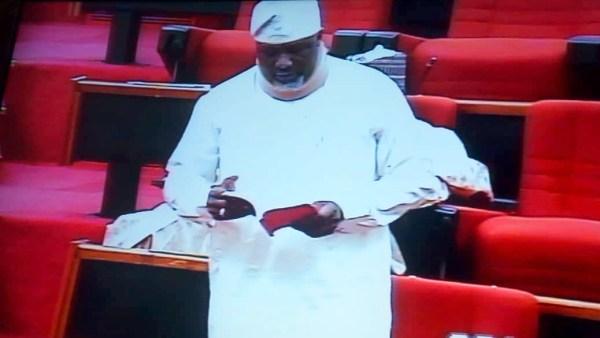 Dino Melaye at the plenary today