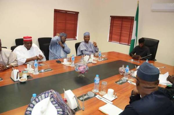 Vice President Yemi Osinbajo meeting with members of nPDP