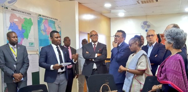 NCDC Incident Coordination Centre Lead introduces activities of the ICC to Dr Tedros and his delegation