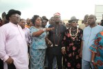 Director, Bayelsa Airlines, Mrs. Elizabeth Daitare-Akpama (2nd left) explaining a point during a visit of Leaders of Amassoma Community to the Bayelsa State International Airport under construction at Amassoma in Southern Ijaw Local Government Area of the State, while the Ebenanaowei of Ogboin Clan, His Royal Majesty, King Oweipa Jones- Ere (3rd right) the Amananaowei of Amassoma, His Royal Highness, Chief Graham Naingba (2nd right) Commissioner for Lands and Housing , Hon. Kuroakegha Dorgu (right) and the Chairman of Bayelsa State Housing and Property Development Authority, Mr. Joseph Akedesuo (left) look on. Photo by Lucky Francis.