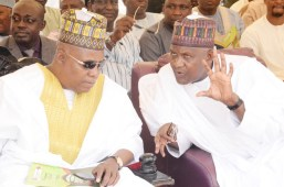 Borno State Governor, Kashim Shettima, Chairman and Founder Aliko Dangote Foundation, Aliko Dangote.