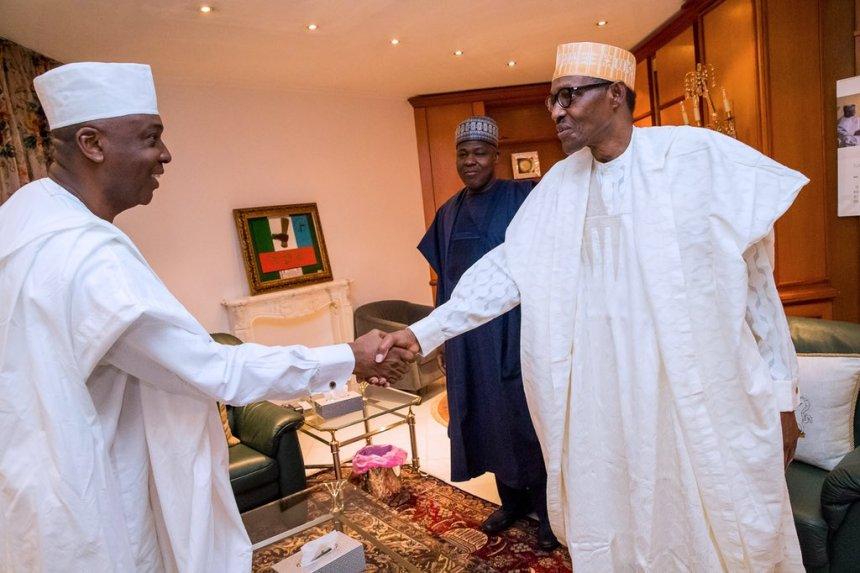 President Muhammadu Buhari and Senate President Bukola Saraki