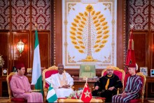 President Muhammadu Buhari of Nigeria and King Mohammed VI of Morocco. [Photo credit: Official Presidency Twitter handle]