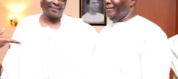 Rabiu Kwankwaso and Atiku Abubakar during a visit to the later's abode