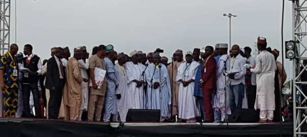 APC National Convention at the Eagles Square, Abuja.