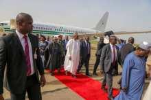 President Buhari arriving Jos