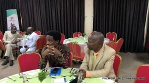 From L-R Prof. Ayo Ojebode; University of Ibadan and Dr. Akin Akingbulu CEO Institute for Media & Society,Lagos during the Campus Journalism Awards in Abuja