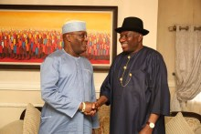 Atiku Abubakar meets former president, Goodluck Jonathan in Bayelsa