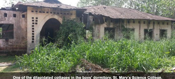 One of the dilapidated cottages in the boys dormitory St. Marys Science College Ediene Abak Akwa Ibom [Cletus Ukpong]