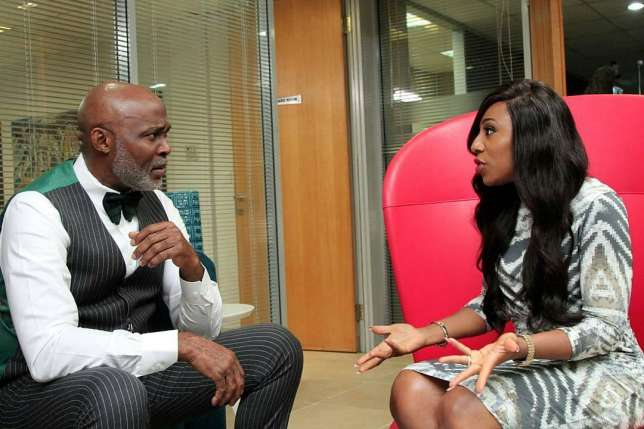 RMD and Dakore Akande in a scene from Castle and Castle