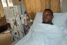 The late Moses Ochei aka Mozzyx on his hospital bed