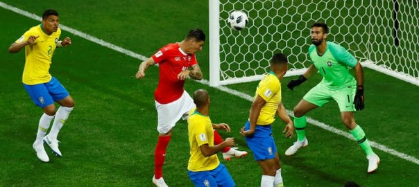 Zuber's equalizer for Switzerland against Brazil