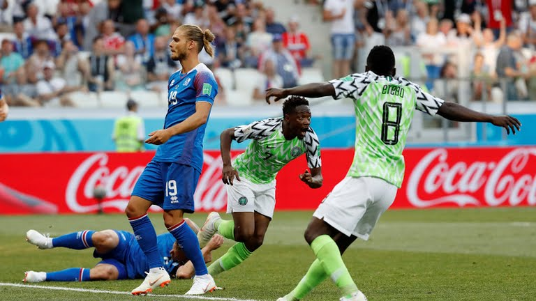 bed63416865 BREAKING: Nigeria beat Iceland in first Russia 2018 World Cup win