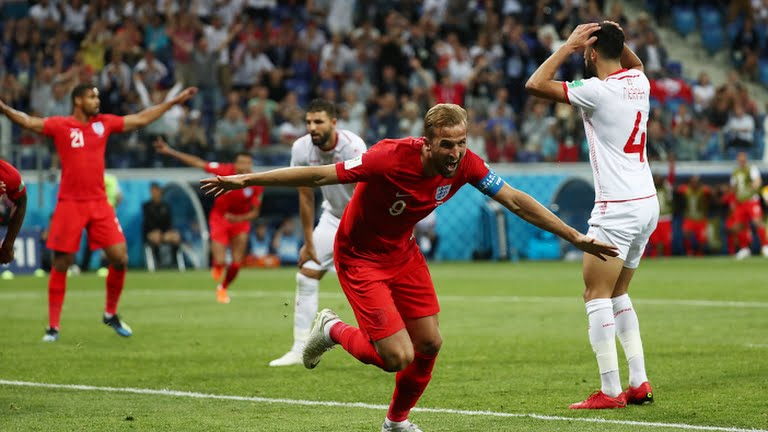 Harry Kane celebrates after scoring (Photo Credit: Reuters)