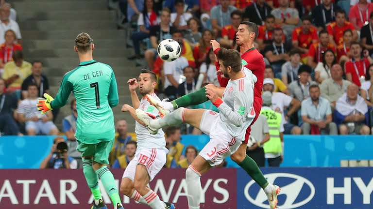 Match between Portugal and Spain at the Russia 2018 World Cup