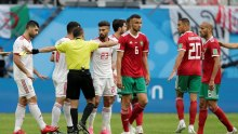 Morocco and Iran match at Russia 2018 World Cup