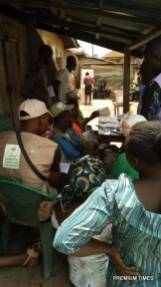 Long queue still experienced at obadore 4, PU 002, LGA 03, ekiti east local govt at 12:06