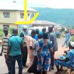 As at 2:04pm, LGA 06, Ward 02 - Odo Emure II, PU 004, Roman catholic church, voting is still process because there are 84 voters on the queue who came in before 2pm, the voters are complaining of standing under the scorching Sun.