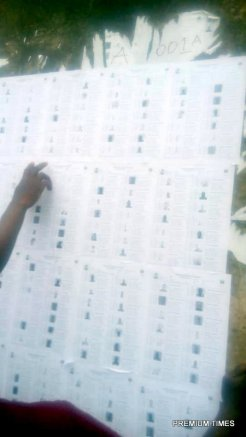 The total number of registered voters as pasted by INEC is 1043 at Ijero ward B PU :001 Asasa. St Matthew Catholic school, Ijero local government