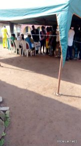 """Arrived 8:58am Emure LGA R. A 09, PU 15, total number of registered voters 228, commenced 8am. Two party agents represented APC and PDP. Accord to Daniel Cecilia, the Presiding officer """"The problem was that the elderly ones can't properly see and so family relatives assist"""", there are no magnifiers and no braille"""". The same challenge was experienced in PU 14 Ward 9."""