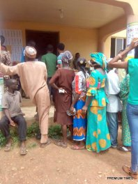 At 11;35am Ido Ile,Ekiti west local government. Ward 11(Odo Ajinare) PU 003 Voting process going on peacefully