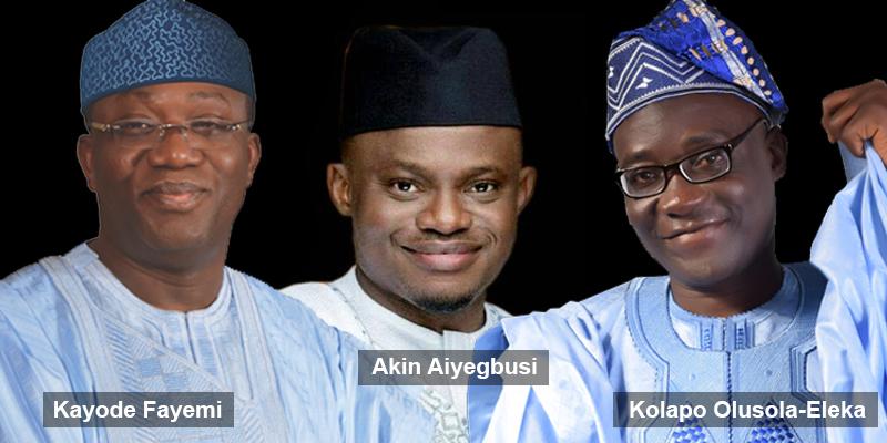 Ekiti State Gubernatorial candidates