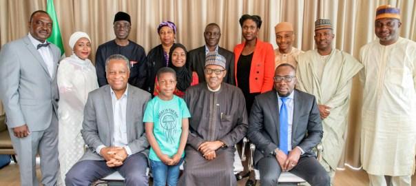 President Muhammadu Buhari with Embassy Staff in Netherlands