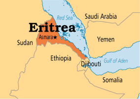 Map of Eritrea used to illustrate the story (Photo Credit: Operation World)