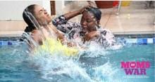 Funke Akindele and Omoni Oboli in Moms at War