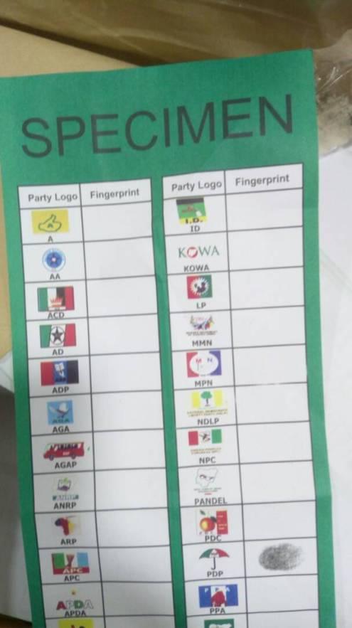 a copy of the specimen ballot