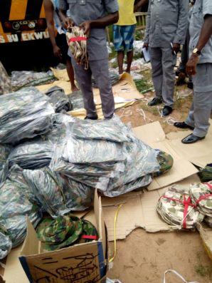 NCS Intercepts Smuggled Military Hardware in Owerri