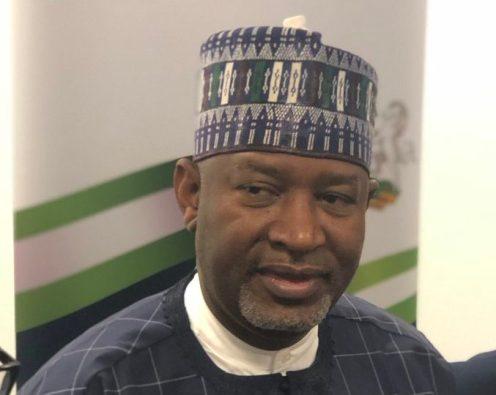 Minister of Aviation, Hadi Sirika at the launch of Nigeria Air