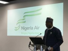 Nigerian Aviation Minister, Hadi Sirika at the launch of Nigeria Air