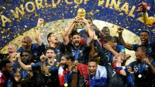 France wins 2018 FIFA World Cup Final beating Croatia 4-2 in Moscow, Russia 2