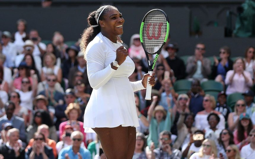 Serena Williams at Wimbledon. [Photo credit: Forefront Nigeria]