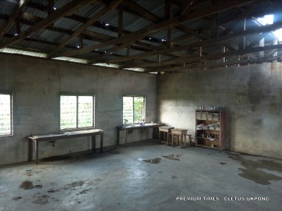 The 'Physics lab' at Adadia Secondary School, Uruan, Akwa Ibom State. Photo_Cletus Ukpong