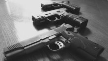 Guns used to illustrate the story. [Photo credit: NPR]