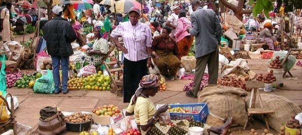 A market used to illustrate the story