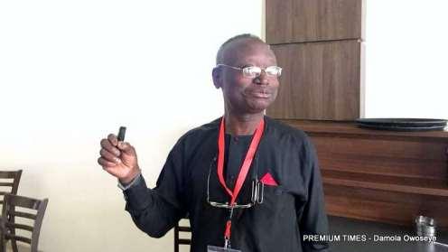 Emmanuel Abanida, senior technical advisor, during his presentation.