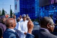 President Buhari inspects Renovation Works at Proposed Buhari-Osinbajo Campaign Office in Abuja