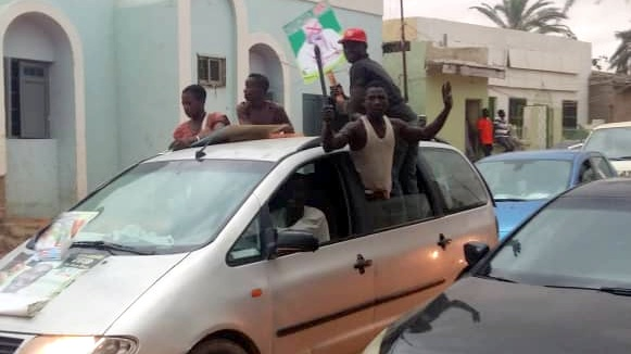Protest against senator who defected from APC