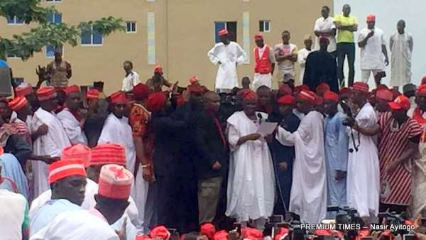 Rabiu Kwankwaso declaring to run for President