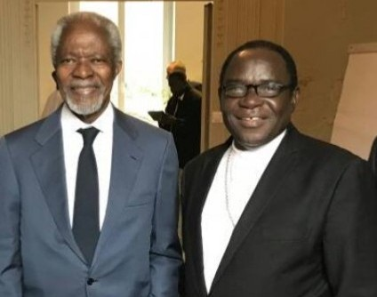 Bishop Mathew Kukah and Koffi Anan, former UN Chief.