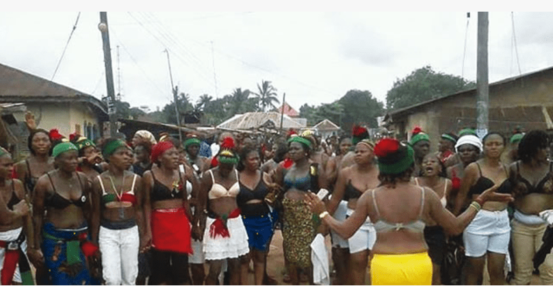 IPOB women demand Kanu's release. [Photo credit: NAN]