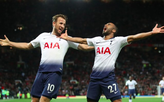 Lucas Moura and Harry Kane celebrates