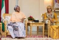 Mrs. Buhari receiving Mrs. Barrow